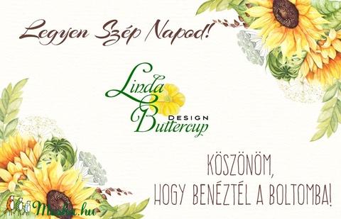 Esküvői köszönetkártya, szatén szalag, köszönjük lap, köszönetajándék, ajándékkísérő, kék virágos - Meska.hu