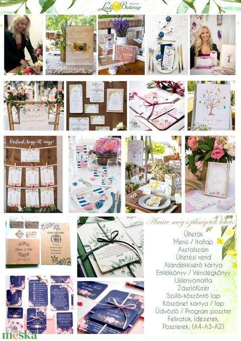 Asztalszám kártya, Ültetési rend, Dekoráció, kellék, Esküvői lap, Esküvő Dekor, Esküvői felirat, kártya, desszert - Meska.hu