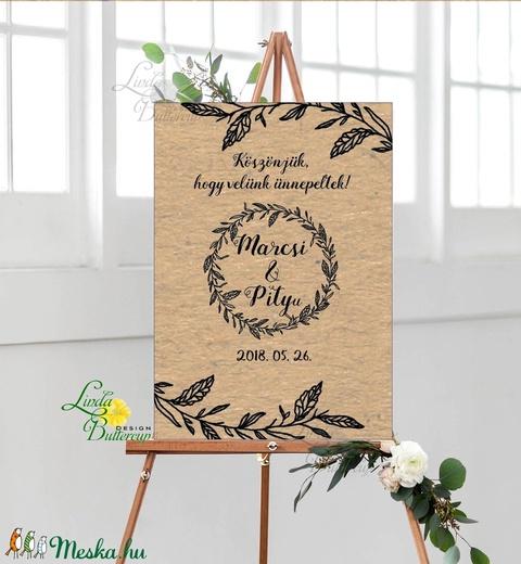 Esküvői Poszter A2, Esküvői kép, Esküvő Dekor, Esküvői felirat, program, idővonal, idézet, üdvözlő, köszöntő - Meska.hu