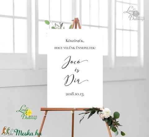 Esküvői Poszter A2, Esküvői kép, Esküvő Dekor, Esküvői felirat, Vintage, tábla, fehér, fekete, kaligrafikus, minimalista - esküvő - dekoráció - helyszíni dekor - Meska.hu