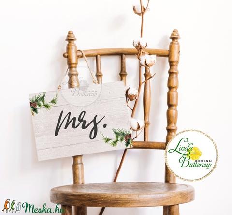 Esküvői Felirat A4, Esküvő Dekor, Papír poszter, tábla, Mr, Mrs, Esküvői felirat, természetközeli, erdei, erdő, zöld - esküvő - dekoráció - tábla & jelzés - Meska.hu