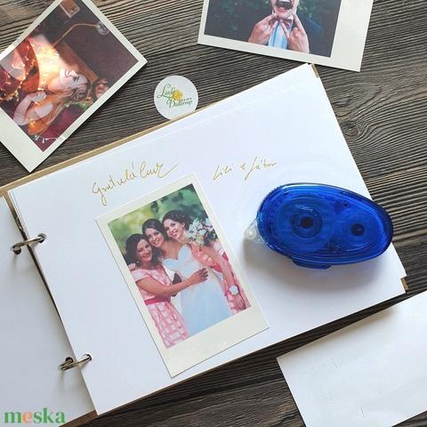 kétoldalú ragasztó roller, kreatív ragasztó, polaroid fotó, fotó vendégkönyv, fotóalbum, polaroid album, emlékkönyv - Meska.hu
