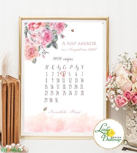Anyák napjára, Anyák napi ajándék, A4-es PRINT (keret nélkül) ) Anyák napja, Naptár (LindaButtercup) - Meska.hu