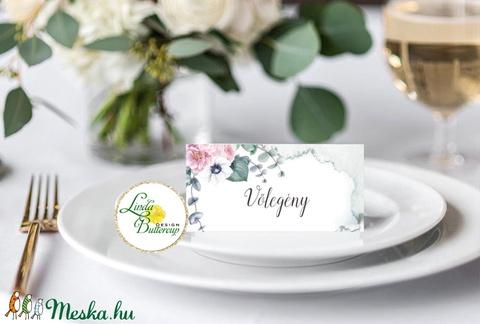 Esküvői ültető kártya, ültető, névkártya, név tábla, Esküvői dekor, dekoráció, virágos, elegáns, romantikus, vintage - esküvő - meghívó & kártya - ültetési rend - Meska.hu