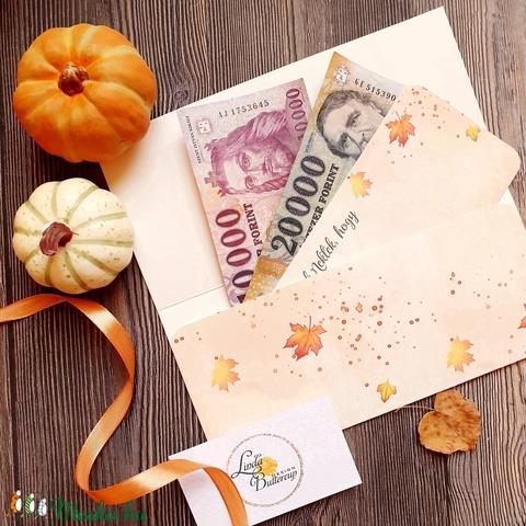 Pénzátadó boríték, Őszi esküvő, Nászajándék, Gratulálunk képeslap, Esküvői Gratuláció, őszi dekoráció, őszies (LindaButtercup) - Meska.hu