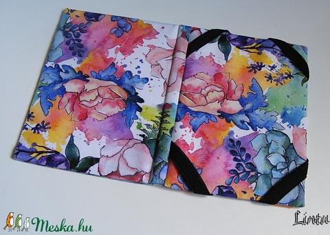 Vizhatlan ebook olvasó kemény tok, színes virágok - Meska.hu