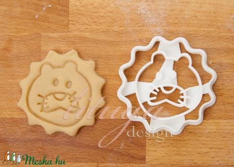 Oroszlán süteménykiszúró (oroszlán fej), oroszlán keksz forma (lituga) - Meska.hu