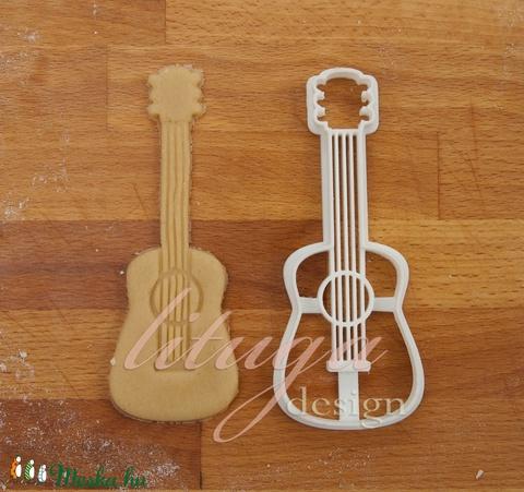Gitár, akusztikus gitár sütemény kiszúró forma - Járművek - Meska.hu