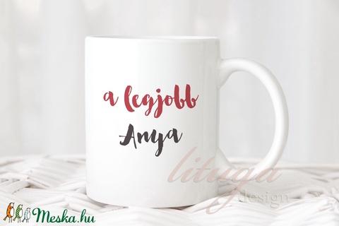 SzuperAnyu bögre - Vicces ajándék Anyák Napjára, anyák napi kerámia bögre (lituga) - Meska.hu