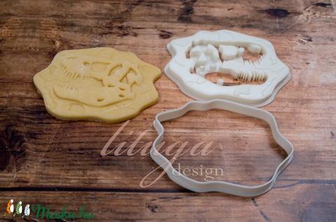 Dinoszaurusz koponya süteménykiszúró forma - Dínó koponya süti forma, dínó koponya linzer, keksz forma (1.) - Meska.hu