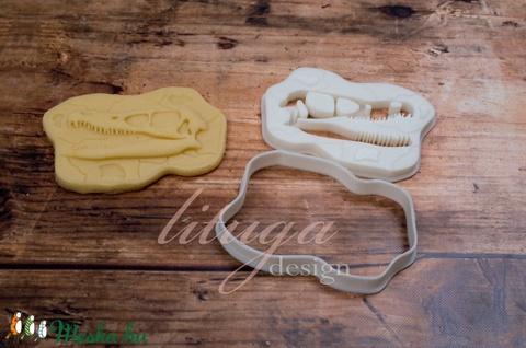Dinoszaurusz koponya süteménykiszúró forma - Dínó koponya süti forma, dínó koponya linzer, keksz forma (2.) - Meska.hu