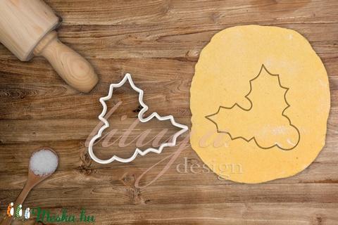 Magyal levél bogyóval kekszkiszúró, mézeskalács forma, sütemény kiszúró - Meska.hu