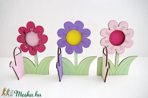 Kedves virágok képkeret - gyerekeknek - Meska.hu