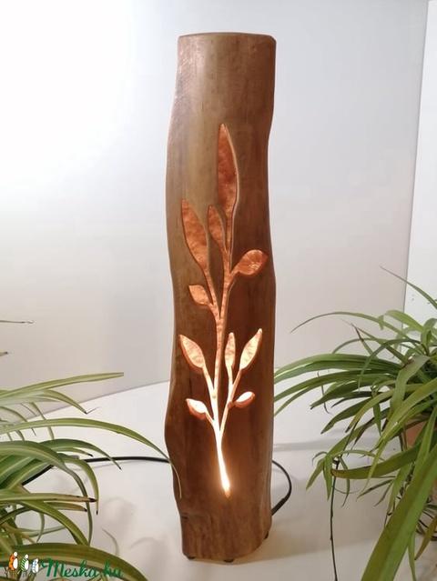 Hasáblámpa leveles faág mintával (Livingwood) - Meska.hu