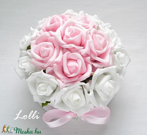 Fehér-rózsaszín virágdoboz (Lolli) - Meska.hu