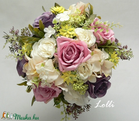 GardenDream menyasszonyicsokor (Lolli) - Meska.hu