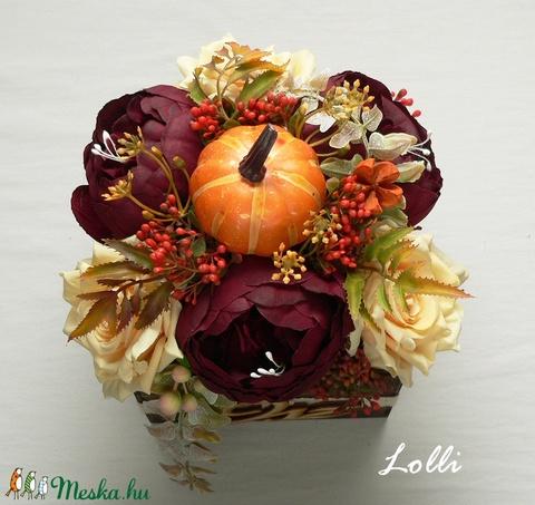 Őszi tökös asztaldísz (Lolli) - Meska.hu