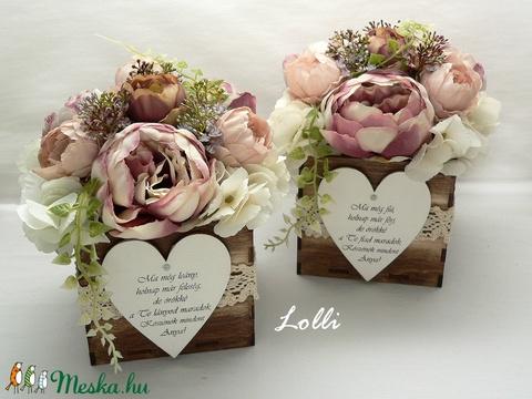 Vintage boglárkás szülőköszöntő virágdobozok párban (Lolli) - Meska.hu