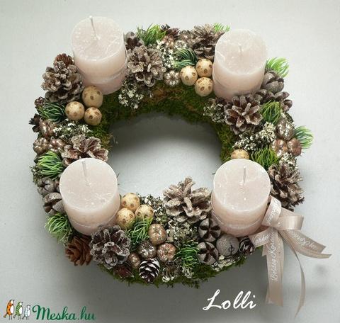 Zöld-pezsgő adventi koszorú (Lolli) - Meska.hu