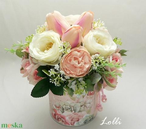 Tulipános virágdoboz virágbox virággomba - Meska.hu