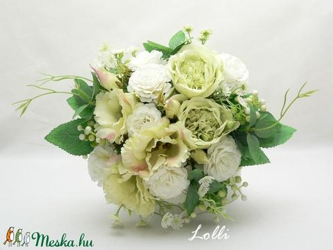 Greenery menyasszonyicsokor örökcsokor - Meska.hu