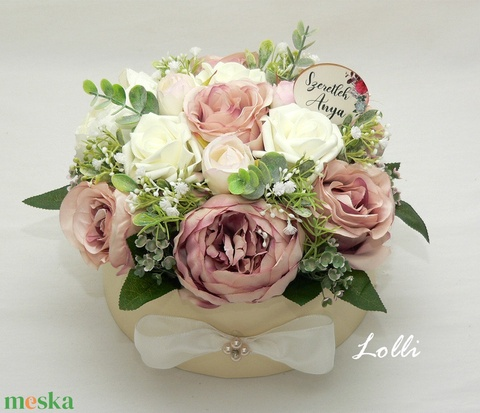 VintagePeonies selyemvirágdoboz virágdoboz virágbox - Meska.hu