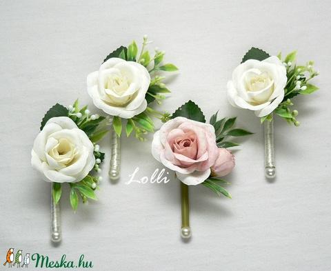 Ekrü - púder örökcsokor, menyasszonyi csokor - Meska.hu