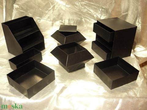 Rattan hatású ékszerdoboz / írószertartó szett /fekete alapon/ - Meska.hu