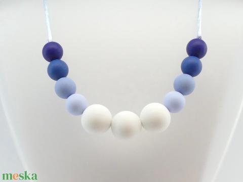 Rágcsa nyaklánc / anyalánc - egysoros - kék (LumiLumi) - Meska.hu