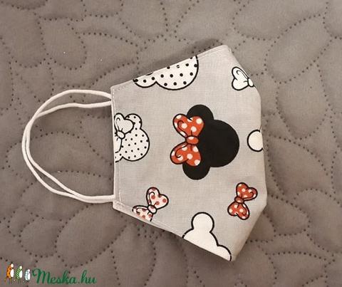 Minnie Mickey arcmaszk - többször használatos - két réteg tiszta pamut anyagból készült  (Macka) - Meska.hu