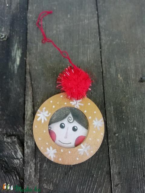 Angyal arcos karácsonyfadísz (MadeinDia) - Meska.hu
