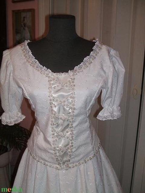 Madeira csipke menyasszonyi, magyaros ruha. - Meska.hu