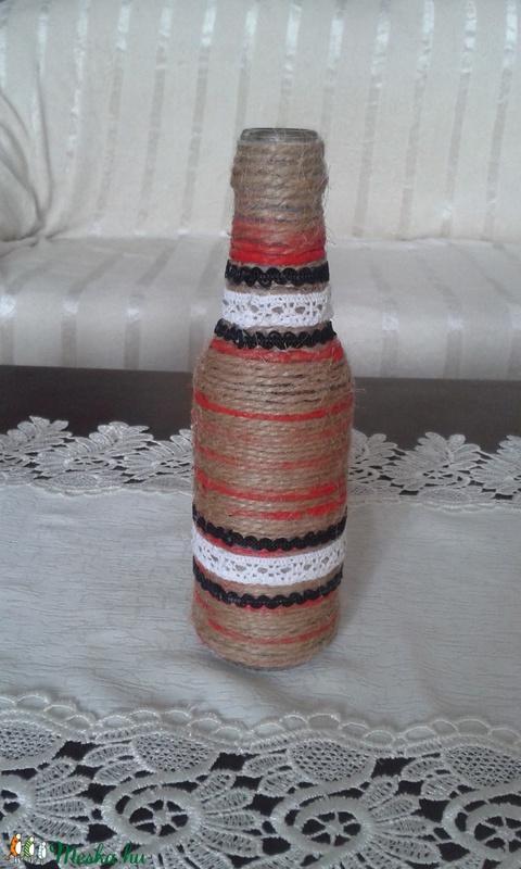 Csipkés üveg dekoráció - kisméretű - Anyáknapjára (magnoliakezmu) - Meska.hu