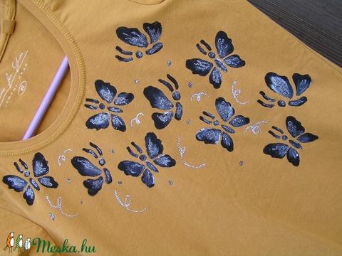 Pillangó mintás,festett, hosszú ujjú női felső (40) (Mahonikashop) - Meska.hu