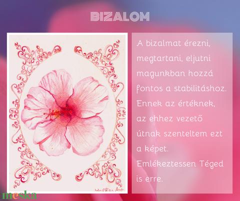 BIZALOM akvarell nyomat print (mallikaarts) - Meska.hu