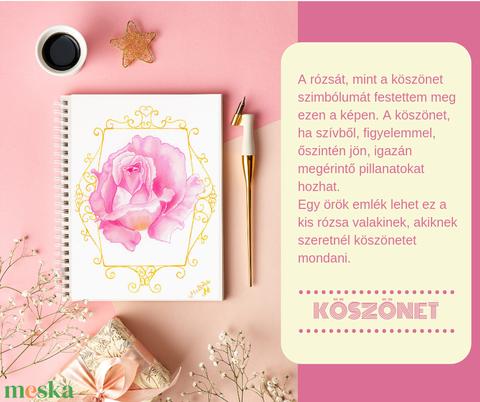 KÖSZÖNET - akvarell print/nyomat - Meska.hu