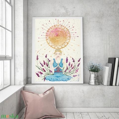 Művészi akvarell nyomat - Női sorozat - Elmélyülés - Meska.hu