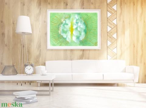 Napfény - akvarell művészi nyomat kiváló minőségben - Meska.hu