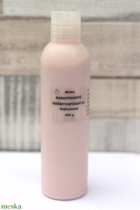 -40%! Bőrápoló krémtusfürdő, Babafürdető és Hajbalzsam 200 g flakonban (MalusKozmetikum) - Meska.hu