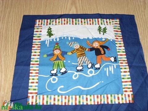 Nyár és Tál évszakok kis blokk patchwork USA design minőségi  textil 30 x 28 cm  - Meska.hu