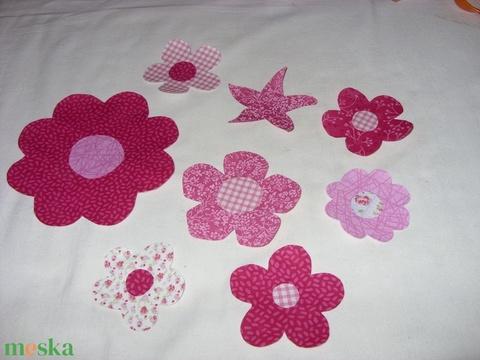 7 db-os virág csomag a kért színben - applikáció - vasalható  - többféle 999.-Ft (MamaMariko) - Meska.hu
