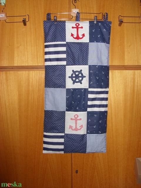 6 zsebes patchwork tároló - tengerészeti stílus 100% pamut - játék & gyerek - Meska.hu