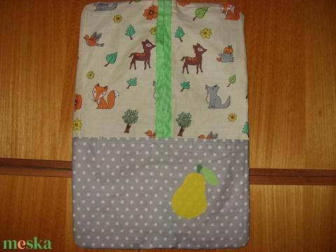 Ovis ruha zsák  - patchwork ovis jellel és névvel is 100% pamut design textil - játék & gyerek - Meska.hu