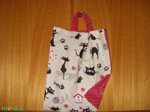Füles kis táska zsebbel - nowaste -   100% pamut textil - ovis jellel és névvel is - táska & tok - kézitáska & válltáska - Meska.hu