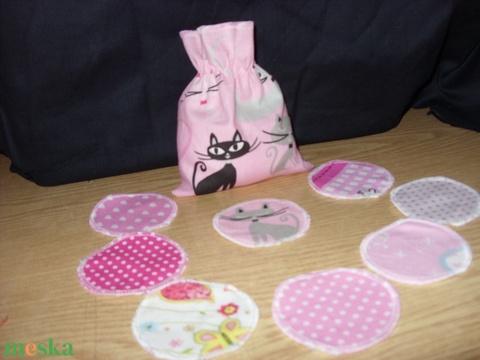 Arctisztító kozmetikai korong - ajándék mosózsákkal -színkombinációs - szépségápolás - arcápolás - arctisztító korong - Meska.hu