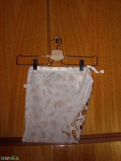 Péksütemény zsák, újra használható, mosható Zöldülj Te is - táska & tok - bevásárlás & shopper táska - kenyeres zsák - Meska.hu