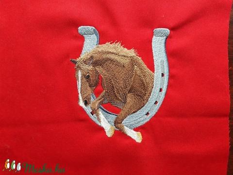 Csodás Hímzett pacikás  blokkok piros - kék 25 x 30 cm, fehér-fekete 35 x 27 cm - textil - pamut - Meska.hu
