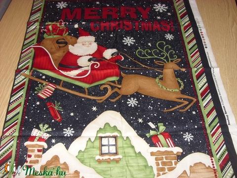 Télapó szános nagy  nagy panel Debbie Mom design - USA design textil 75 x 58 cm - textil - pamut - Meska.hu