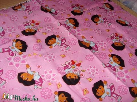 Dóra - csajos, gyerekmintás méteráru  - USA design textil  - 110 cm - textil - pamut - Meska.hu