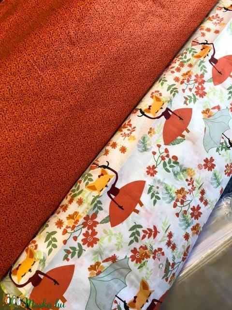100% pamut cicák, róka, unikornis, stb.  - sok minta design textil  - textil - pamut - Meska.hu
